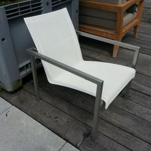 Tribu fauteuil, rvs/wit