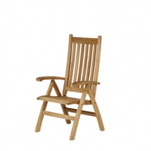 Barlow Tyrie Ascot Opklapbare dekstoel met hoge rugleuning
