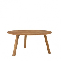 Discus Round Table with umbrella hole teak