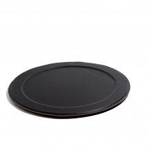 Dutch deluxes serving tray black round