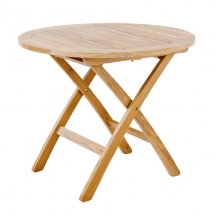 Garpa Folding table rond 90cm teak