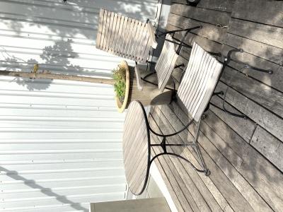 Garpa Fontenay recliner met tafel 90cm ø en voetenbankje (1)