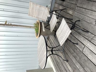 Garpa Fontenay recliner met tafel 90cm ø en voetenbankje (3)