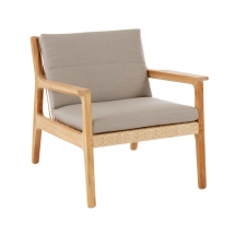Garpa clark fauteuil met kussens stone
