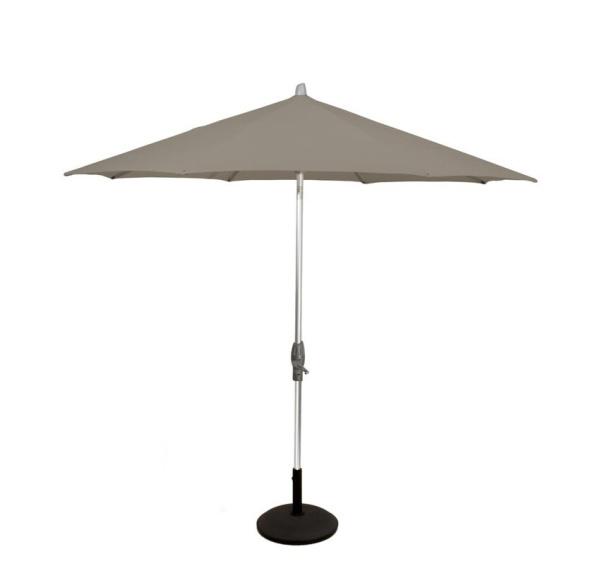 Glatz Alu twist parasol 250×200 – taupe 461