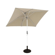 Glatz Alu twist parasol 250×200 – taupe 461_kantelbaar