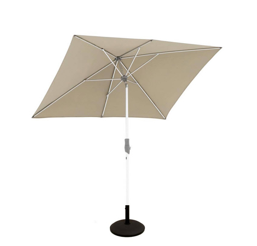 glatz alu twist parasol 250x200 taupe 461 van valderen. Black Bedroom Furniture Sets. Home Design Ideas