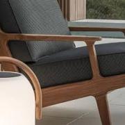 Gloster Bay loungestoel teak -antraciet grijs1
