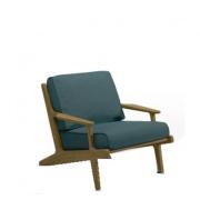 Gloster Bay loungestoel teak -antraciet groen