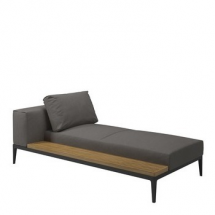 Gloster Grid left-right chaise unit