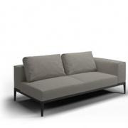 Gloster Grid loungemodule L-R meteor-grijs