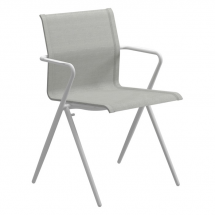 Gloster Ryder white dining chair