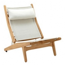 Gloster bay textileen ligstoel