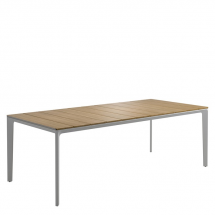 Gloster table teak top white