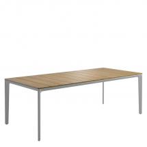 Gloster table teak top white
