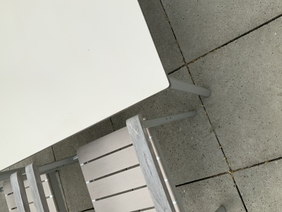 Garpa Monterey tafel HPL detail