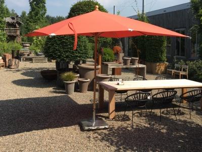 Glatz parasol - teak-oranje
