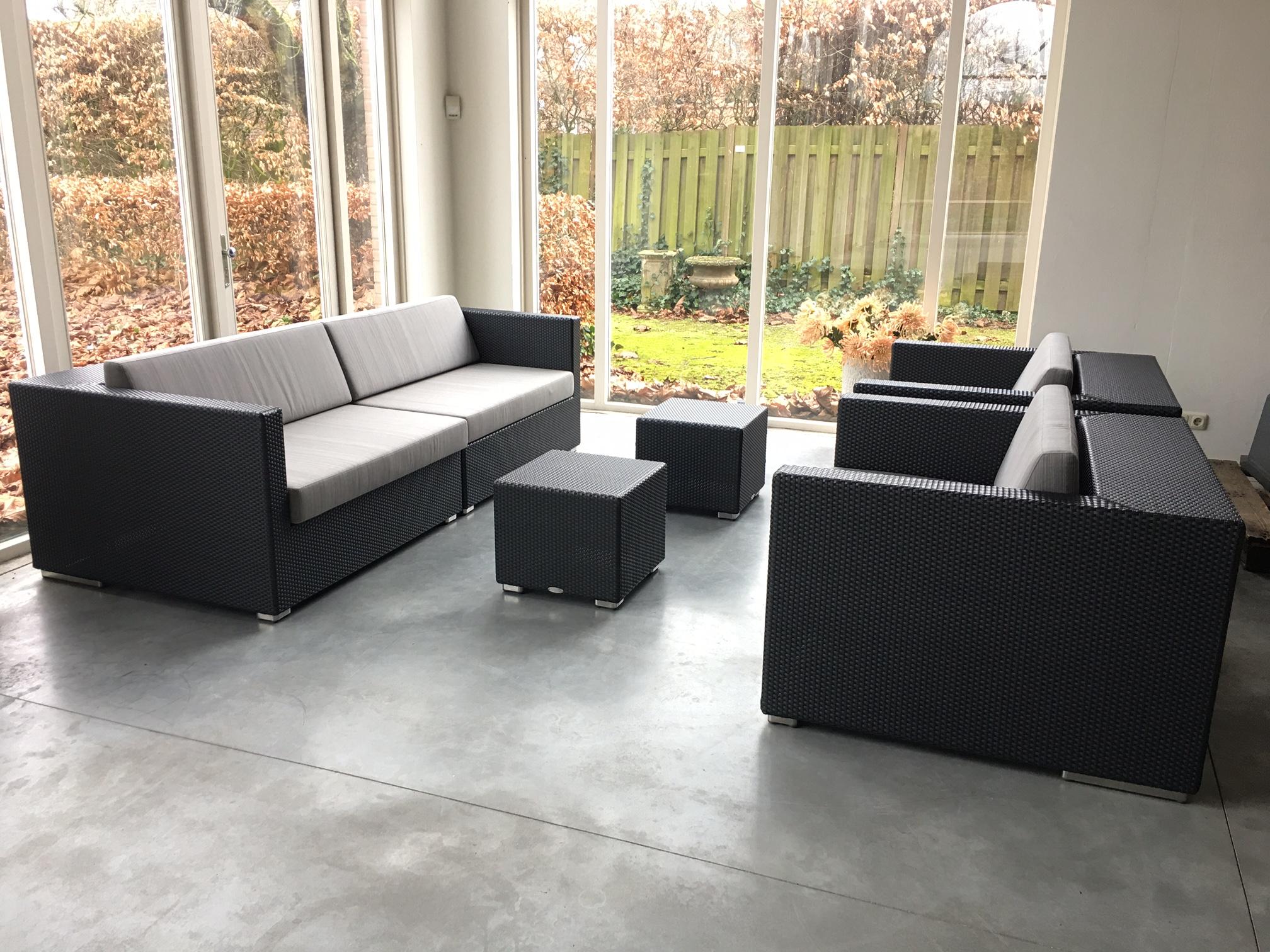 Lounge vlechtwerk antraciet ✓ van valderen exclusieve