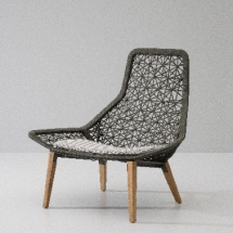 Kettal Maia Relax armchair Maia Rope