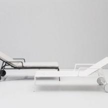 Kettal Park Life ligbed aluminium frame met parallels porotex batyline doek