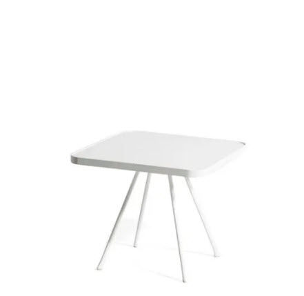 Oasiq Attol bijzettafel 55x55cm wit aluminium blad