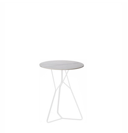 Oasiq Serac bijzettafel ∅72 cm wit/wit Ceramisch