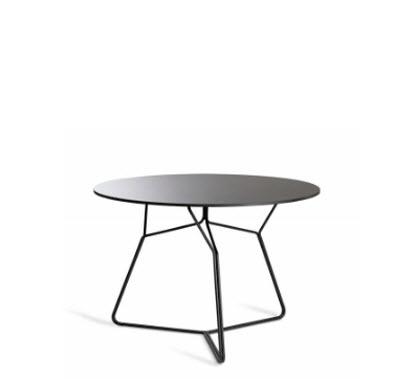 Oasiq Serac koffietafel ∅105 cm antraciet/zwart HPL