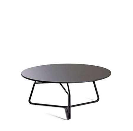 Oasiq Serac koffietafel ∅85 cm antraciet/nordic zwart HPL