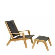 Oasiq Skagen ligstoel verstelbaar teakhouten frame met rope vlechtwerk