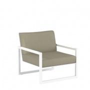 Royal Botania Ninix Lounge fauteuil wit-taupe