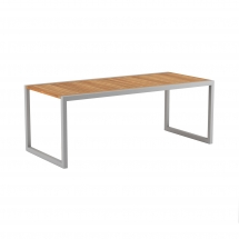 Royal Botania Ninix table 200cm teak pearl grey