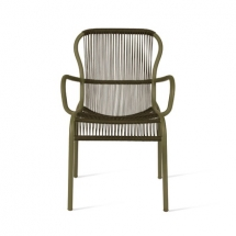 Vincent garden loop dining chair moss