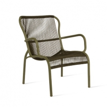 Vincent garden loop lounge chair rope moss