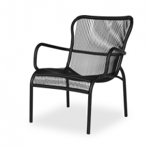 Vincent sheppard_Loop_lounge_chair_black_2_gedetoureerd