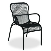 vincent garden loop dining chair black